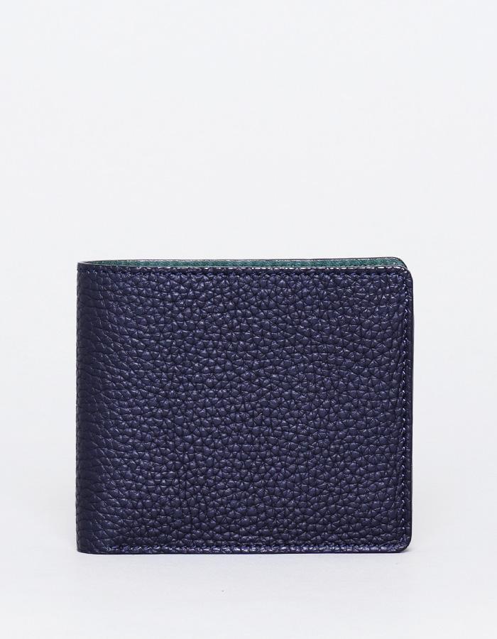 二つ折り財布 コインタイプ シュリンクレザー
