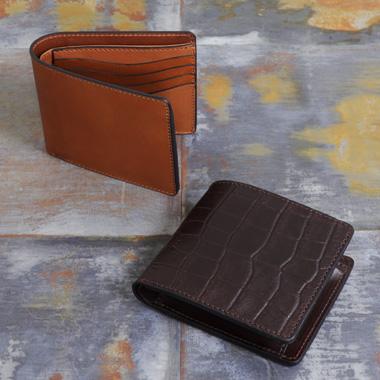 オイルレザー二つ折り財布