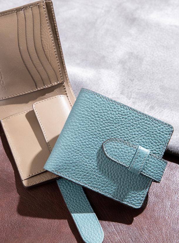 二つ折り財布 コインタイプ(差し込みベルト付き)