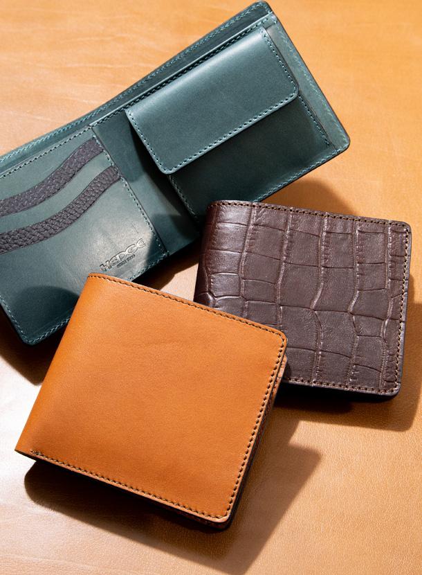 二つ折り財布 コインタイプ