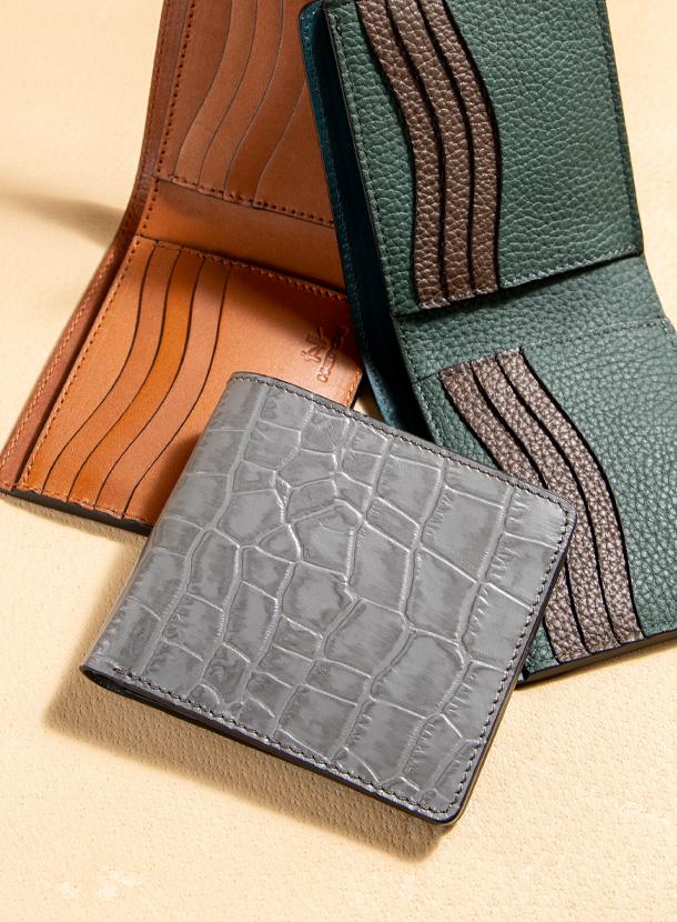 二つ折り財布 ダブルカードタイプ
